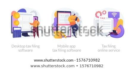 Desktop fiscali software vettore metafore dichiarazione Foto d'archivio © RAStudio