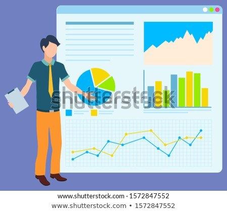 Join to Our Team Poster, Man Making Report. Board Stock photo © robuart