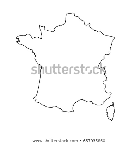 france on map icon vector outline illustration Stock photo © pikepicture
