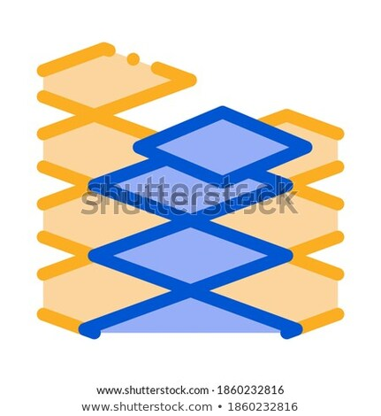laying floor tiles icon vector outline illustration Stock photo © pikepicture