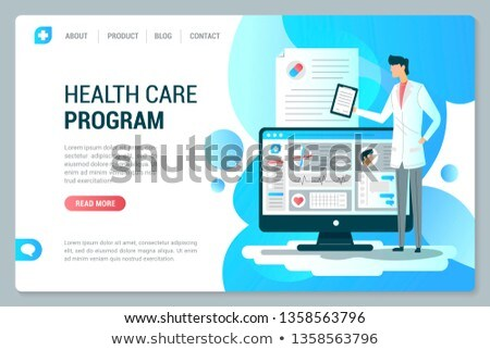 Medical Program Online from Doctor Webpage Vector Stock photo © robuart
