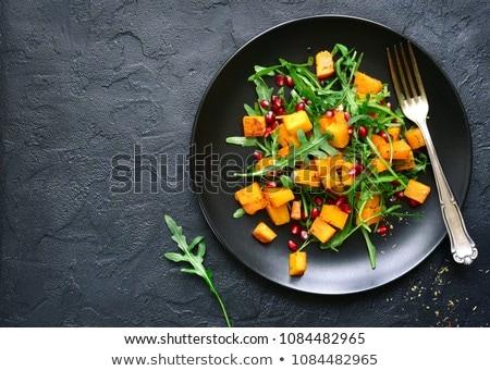 Delicioso salada abóbora outono avelã Foto stock © Melnyk