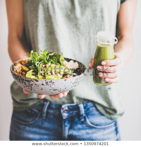 свежие здорового вегетарианский овощей Салат салата Сток-фото © DenisMArt