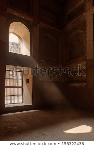 Ray of sun coming through window in Agra fort Stock photo © dmitry_rukhlenko