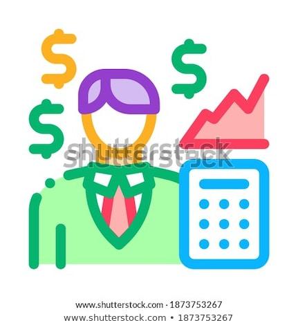 Corretor de imóveis lucro ícone vetor ilustração Foto stock © pikepicture