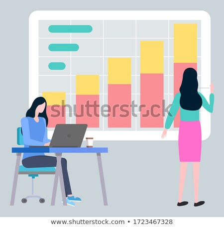 Business Woman Type on Notebook Broker Investigate Stock photo © robuart
