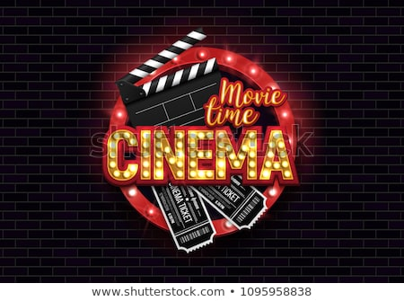 movie time background with film strip and stars Stock photo © SArts