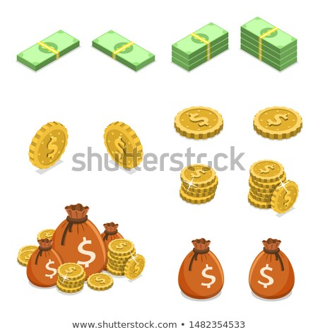 Elementos efectivo billetes icono vector Foto stock © pikepicture