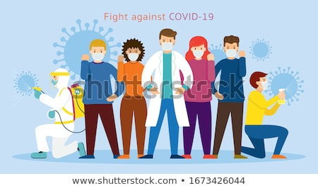 women wearing hygienic mask to prevent Coronavirus covid 19. People in masks The outbreak of Novel C Stock photo © galitskaya