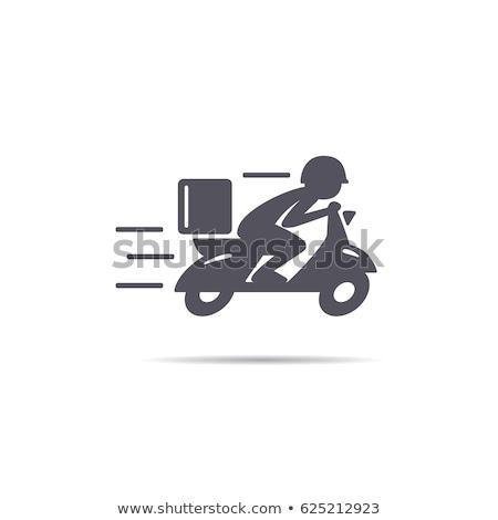 быстро бесплатная доставка логотип велосипедов человека курьер Сток-фото © bluering