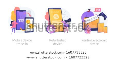Renting electronic device concept vector illustration. Stock photo © RAStudio