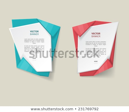 paper and origami style tags collection stock photo © davidarts