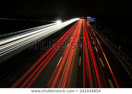 Night Traffic On A German Highway Zdjęcia stock © manfredxy