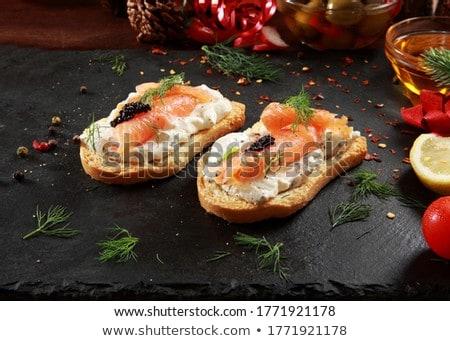 bread with salmon stock photo © m-studio
