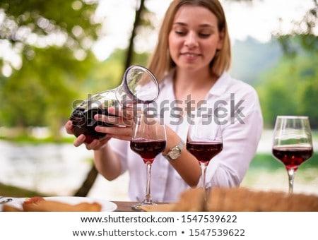 классический · питьевой · мелкий · красный · коктейль - Сток-фото © nejron