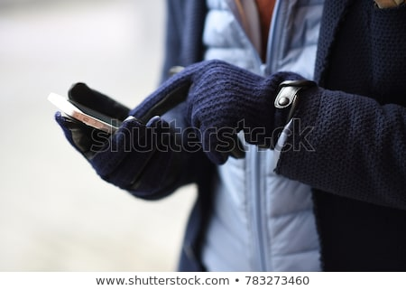 Man in winter-gloves Stock photo © gemenacom