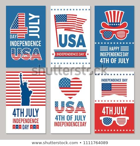 Nap USA amerikai zászló poszter textúra boldog Stock fotó © Valeo5
