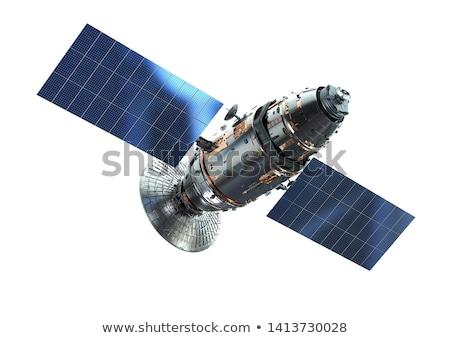 Isolado satélite original ilustração tecnologia metal Foto stock © paulfleet
