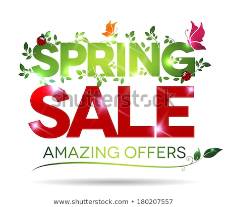 Spring sale, amazing offers message on a white background Stock photo © Tefi
