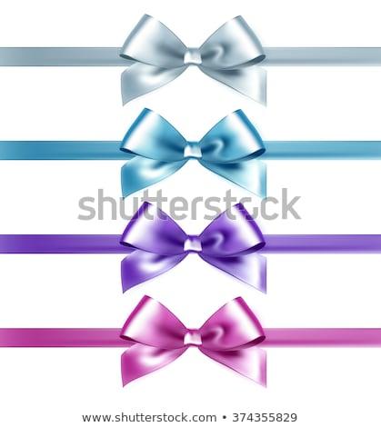 Szett izolált rózsaszín fehér kék selyem Stock fotó © fresh_5265954