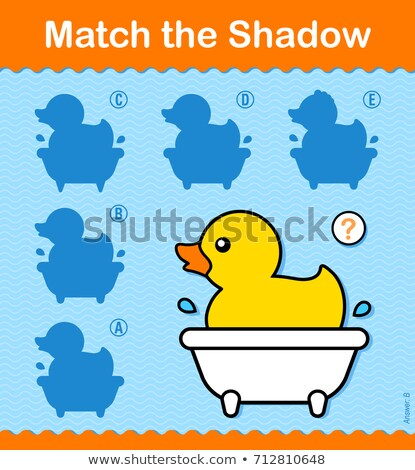 Combinar sombra pequeno pato banheira Foto stock © adrian_n