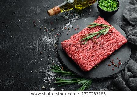 свежие · сырой · говядины · мяса · темно - Сток-фото © Melnyk