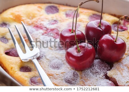 Fresh sweet berries for cooking fruit pie. Close-up of berries in a droplets with soft focus. Stock photo © artjazz