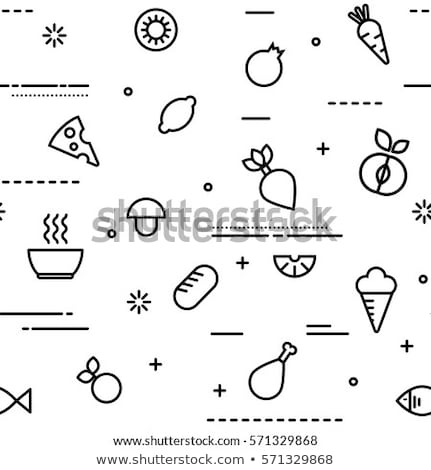 food seamless pattern of modern outline icons stock photo © cienpies
