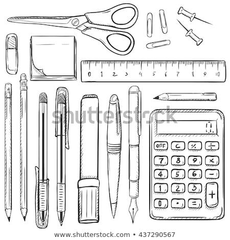 Escritório documentos caneta lápis pin conjunto Foto stock © robuart