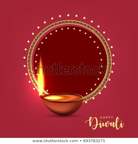 stylish happy diwali diya greeting design background Stock photo © SArts