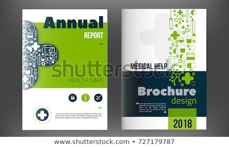 healthcare and medical science banner in blue color Stock photo © SArts