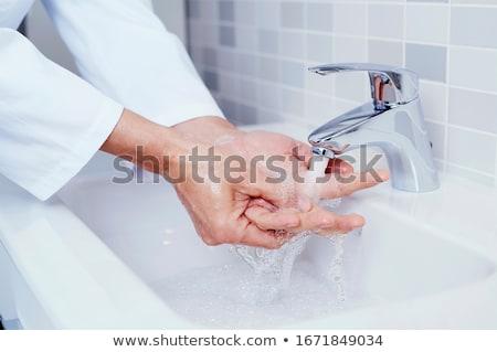 Człowiek ręce strony zdrowia Zdjęcia stock © nito
