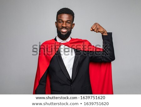 Business Hero Man Wearing Mantle, Male Superman Stock photo © robuart