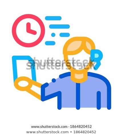 Leidend icon vector schets illustratie teken Stockfoto © pikepicture