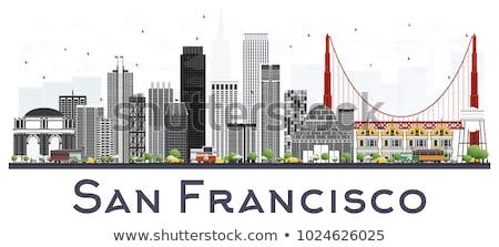 San Francisco Skyline with Gray Buildings and Blue Sky.  Stock photo © ShustrikS