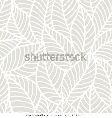 Tavasz stilizált levelek végtelenített vektor minta Stock fotó © barsrsind