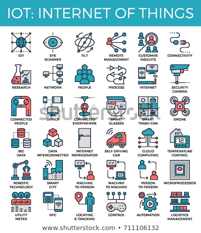 Drones - modern line design style icons set Stock photo © Decorwithme