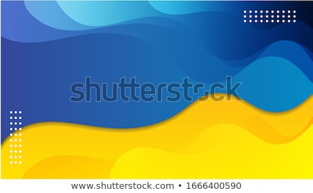 abstract yellow and blue papercut style background Stock photo © SArts