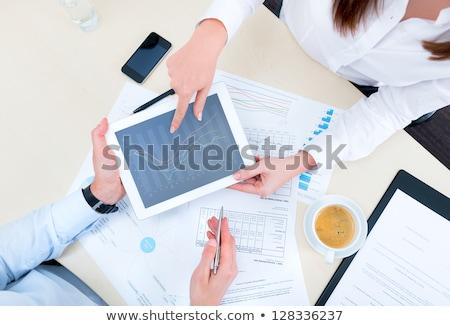 Marketing Business Advisor Using Tablet Computer Stock photo © AndreyPopov
