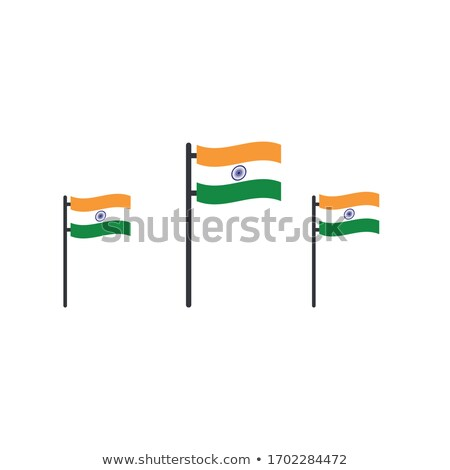 3  インド トリコロール フラグ フラグ ストックフォト © kyryloff