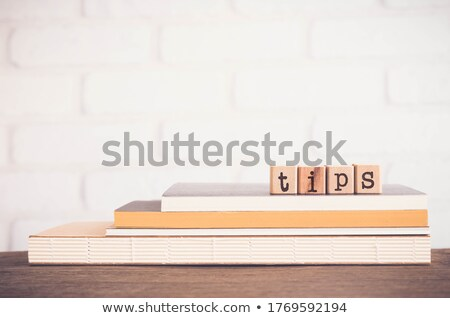 The word TIPS, letters and copy space background, vintage. Stock photo © vinnstock