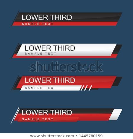 современный стиль снизить третий Баннеры шаблон набор Сток-фото © SArts