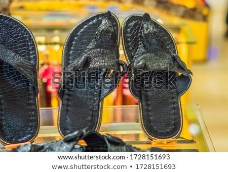 Crocodile leather shoes. Animal abuse. Non vegan shoes Stock photo © galitskaya