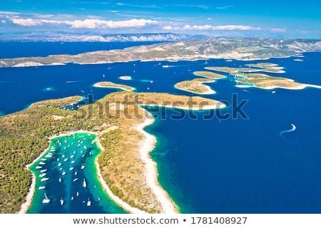 Zeilen bestemming luchtfoto eiland regio Kroatië Stockfoto © xbrchx