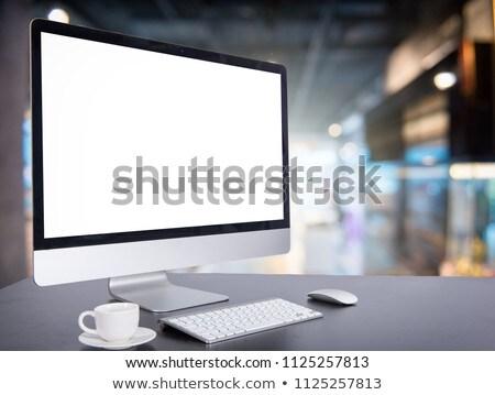 Space scene on computer desktop background Stock photo © bluering