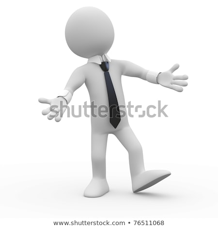 3d Man Businessman Welcoming With Open Arms Stockfoto © Texelart