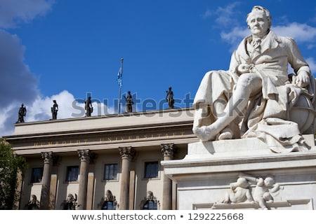 Statue Of Alexander Von Humboldt In Berlin Foto d'archivio © chrisdorney