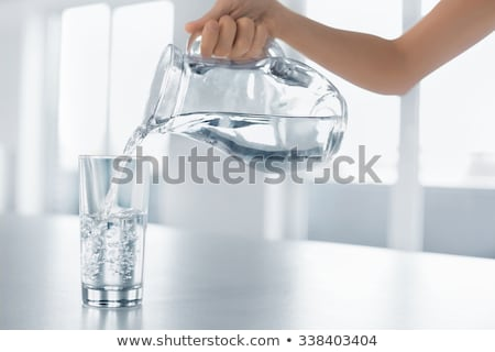 Splashing drink water Stock photo © Ronen