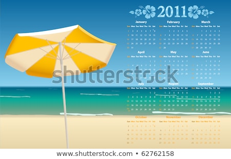 Calendrier vectoriel 2011 avec Tropic Beach Photo stock © Elisanth