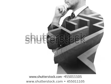 бизнесмен бизнеса изолированный белый служба улыбка Сток-фото © Elnur